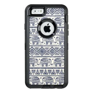 Blaues ethnisches Elefant-Muster OtterBox iPhone 6/6s Hülle
