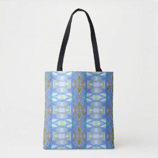 blaues ethnisches Muster des Fraktals Tasche