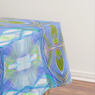 blaues ethnisches Muster des Fraktals Tischdecke