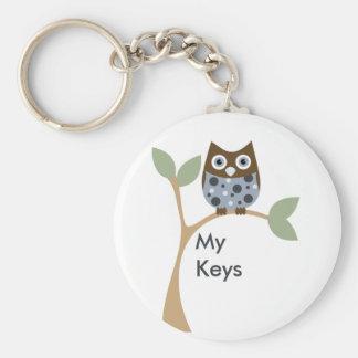 Blaues Eulen-Baby Schlüsselband