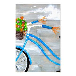 Blaues Fahrrad Zazzle Briefpapier
