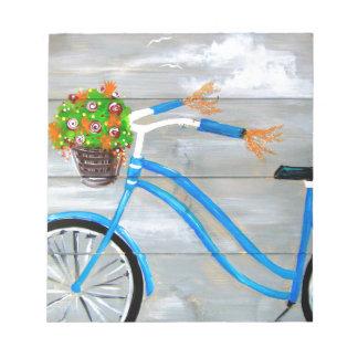 Blaues Fahrrad Zazzle Notizblock