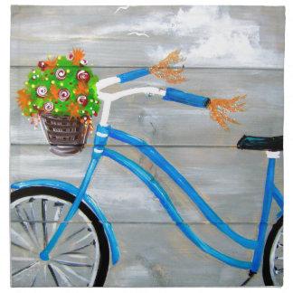 Blaues Fahrrad Zazzle Serviette
