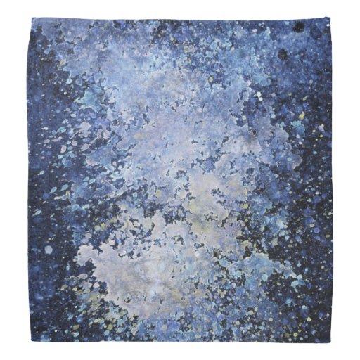 Blaues Farben-Spritzen-weiße saure Kopftuch