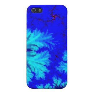 Blaues Farn-Fraktal Schutzhülle Fürs iPhone 5