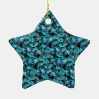 Blaues Federmuster Isis Keramik Ornament