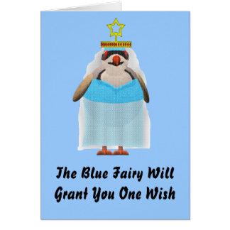 Blaues feenhaftes Weihnachten Karte
