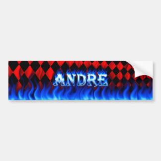 Blaues Feuer Andre und Autoaufkleber