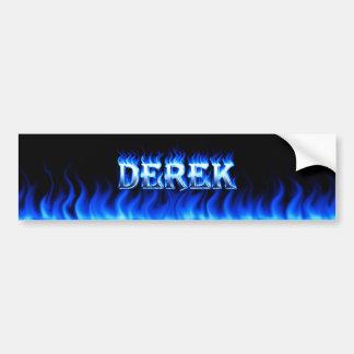 Blaues Feuer Derek und Autoaufkleber
