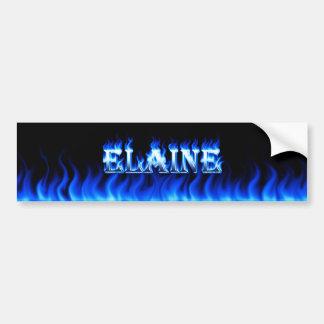 Blaues Feuer Elaine und Autoaufkleber
