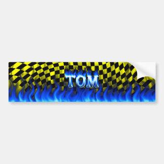 Blaues Feuer Toms und Flammen-Autoaufkleberentwurf Autoaufkleber