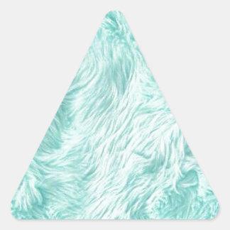 Blaues flockiges Muster Dreieckiger Aufkleber
