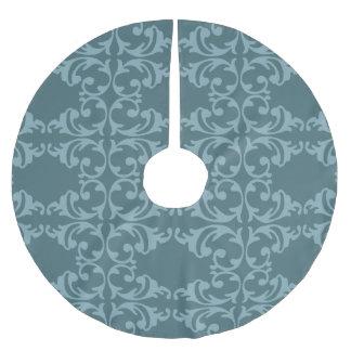 Blaues Florish Polyester Weihnachtsbaumdecke