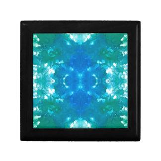 Blaues Fluss-Muster Geschenkbox
