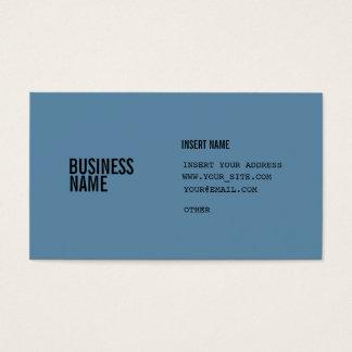 Blaues Format mit Spalten kondensierte Schriftart Visitenkarte