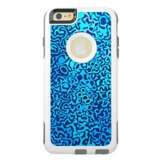Blaues Fraktalmuster OtterBox iPhone 6/6s Plus Hülle