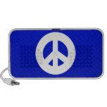Blaues Friedenszeichen Lautsprecher