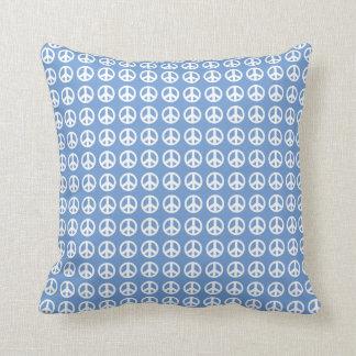 Blaues Friedenszeichen-Wurfskissen Kissen