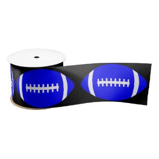 Blaues Fußball-Party-Band für Spieler oder Trainer Satinband