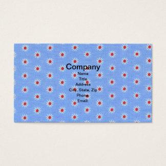 Blaues Gänseblümchen-Antiken-Gewebe Visitenkarte