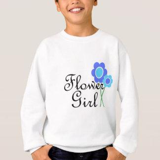 Blaues Gänseblümchen-Blumen-Mädchen Sweatshirt