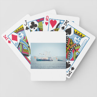 Blaues Garnele-Boot auf dem Ozean Bicycle Spielkarten