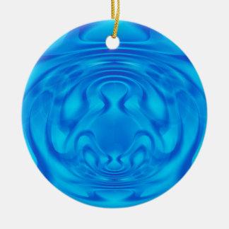 Blaues Geheimnis Keramik Ornament