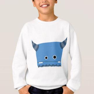 Blaues gehörntes Monster Sweatshirt
