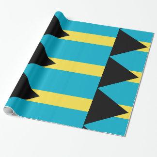 Blaues Gelb Bahamas Geschenkpapier