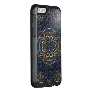 Blaues gelbes Fraktal-Puzzlespiel OtterBox iPhone 6/6s Hülle