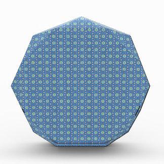 Blaues geometrisches Muster Acryl Auszeichnung