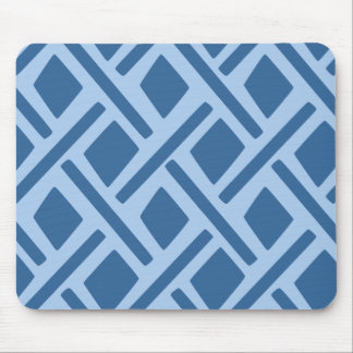 Blaues geometrisches Muster Mousepads