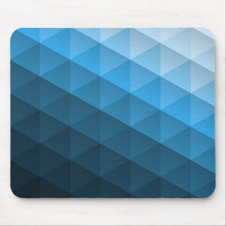 Blaues geometrisches Trangle Muster Mousepads