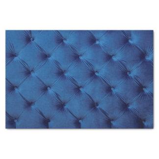 Blaues Geschenk Seidenpapier mit capitone