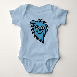 Blaues Geschöpf babygrow Shirt