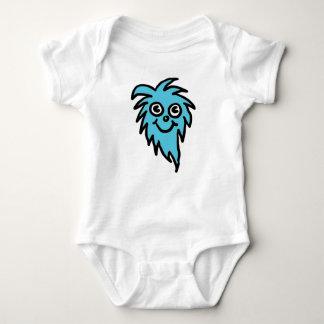 Blaues Geschöpf babygrow Shirts