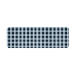Blaues Gingham-Karo-Mitternachtsmuster