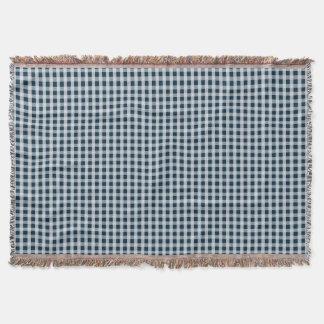 Blaues Gingham-Karo-Mitternachtsmuster Decke