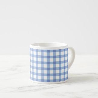 Blaues Gingham-Karo-Pastellmuster Espressotasse