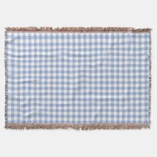 Blaues Gingham-Land Decke