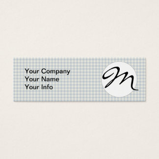 Blaues Gingham-Land Mini Visitenkarte