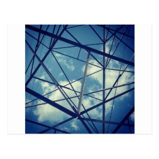 BLAUES GITTER: Power u. Natur Postkarte