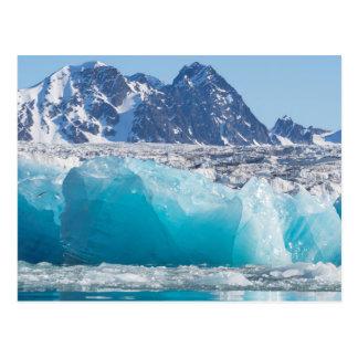 Blaues glaceir Eis, Norwegen Postkarte