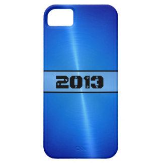Blaues glänzendes Edelstahl-Metall 9 iPhone 5 Cover