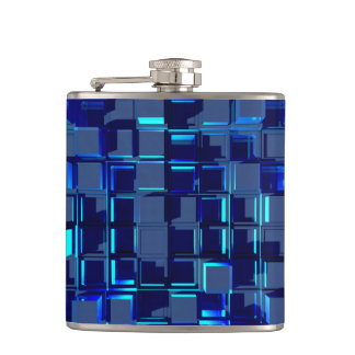 blaues Glasmosaik Flachmann