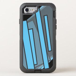 Blaues Glück geometrisch OtterBox Defender iPhone 8/7 Hülle