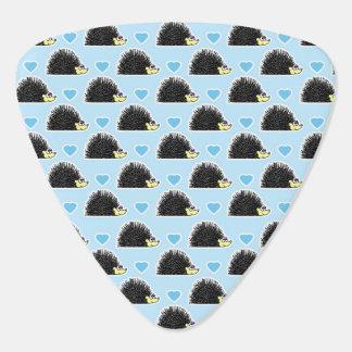 Blaues glückliches Igels-Liebe-Muster Plektrum