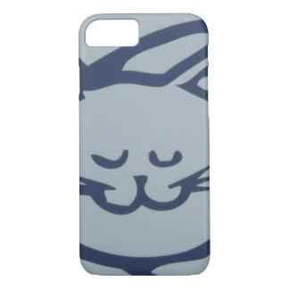 Blaues glückliches Katzen-Schlafen iPhone 8/7 Hülle