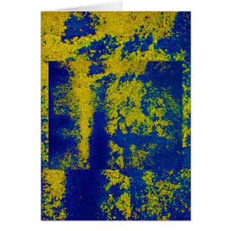 Blaues Gold II Grußkarte