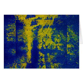 Blaues Gold III Grußkarte